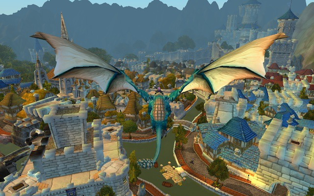 Stormwind like we've never seen it before: from above!