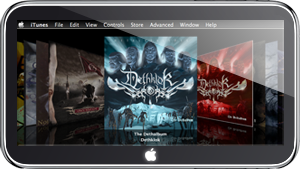 Cocktail albums on a tablet