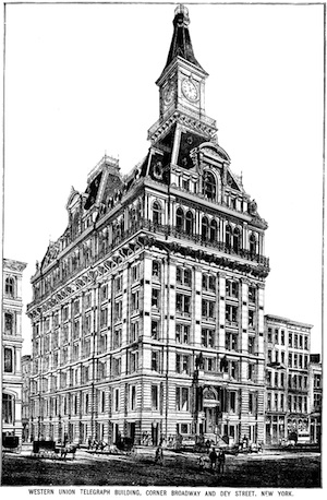 The old Western Union headquarters in New York