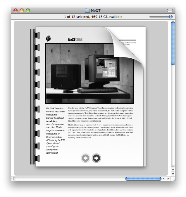 Not your father's icon: 512x512 pixels of multi-page PDF previewing