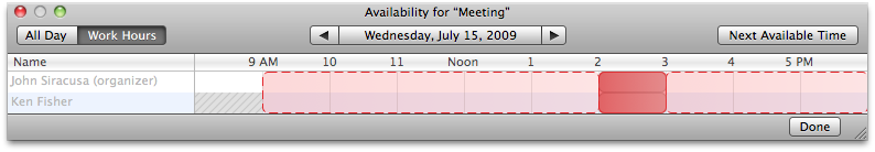 Meeting availability checker