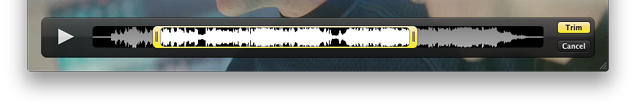 Trimming with audio waveform view
