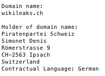Wikileaks.ch registration