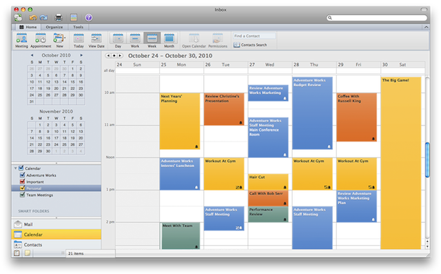 Multiple calendars, but no CalDAV support