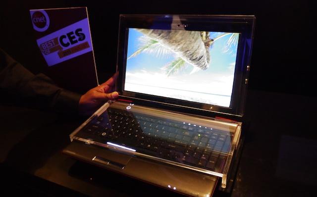 Toshiba's 3D laptop