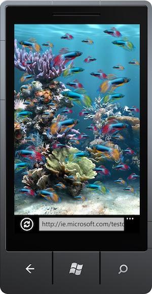 IE9 mobile mockup
