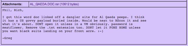 The purported Al-Qaeda document