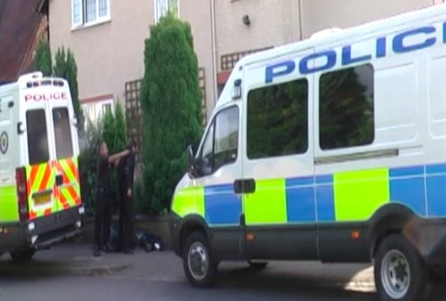 UK police raid on suspect home