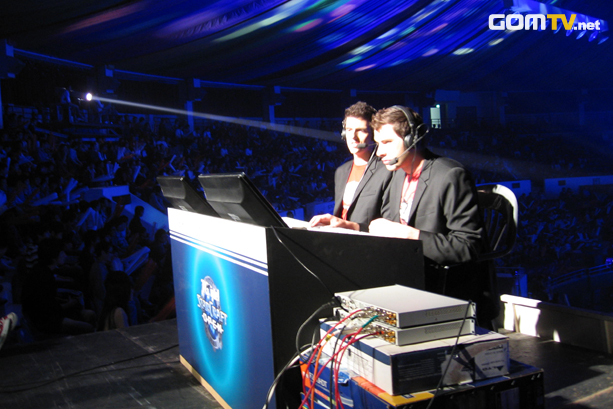 The GSL finals being casted by Dan and Nick. Image courtesy GOM TV