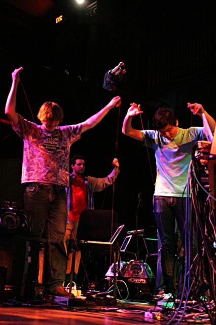 Some of Trueman's fellow performers in PLOrk.