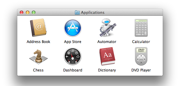 The complete contents of Lion's Applications folder…or is it?