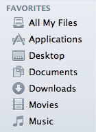 Finder sidebar: gray