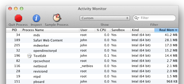 Sandboxed processes in Lion