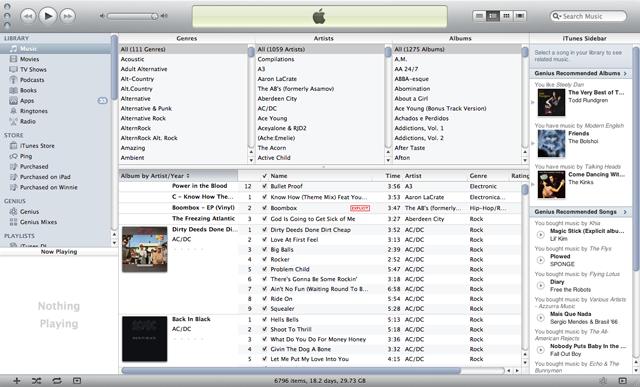 ...iTunes...