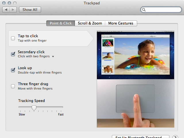Point and click controls, including three-finger dragging.