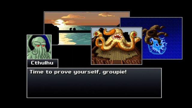 Cthulhu saves the world looks like a retro, SNES-era RPG