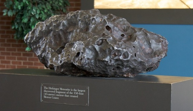 """Holsinger Meteorite,"" the biggest recovered fragment of the Canyon Diablo meteorite"