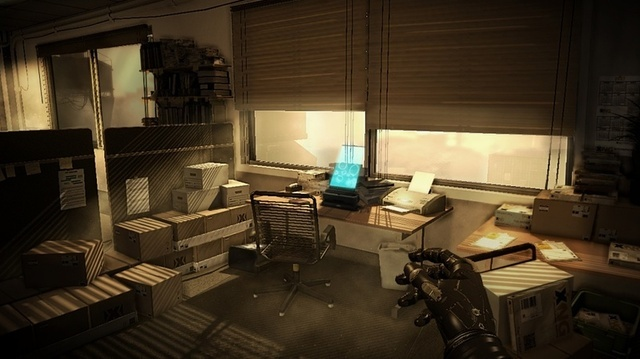 The game's environments often have a lived-in, sci-fi-by-way-of-noir feel