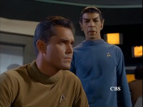 The pilot episode with Captain Christopher Pike and Mr. Spock