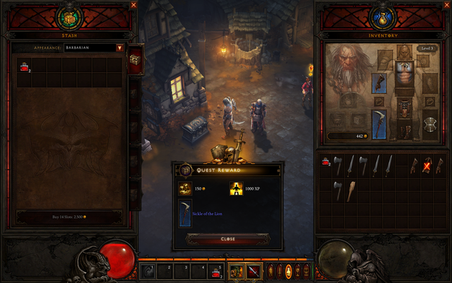 The interface is clean and easy to use. The game now gives you the ability to sell items at any time, clearing your inventory.