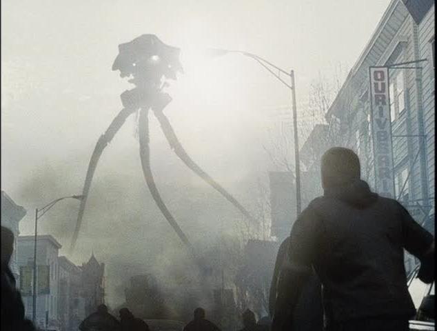 A tripod attacks in <em>War of the Worlds</em> (2005)