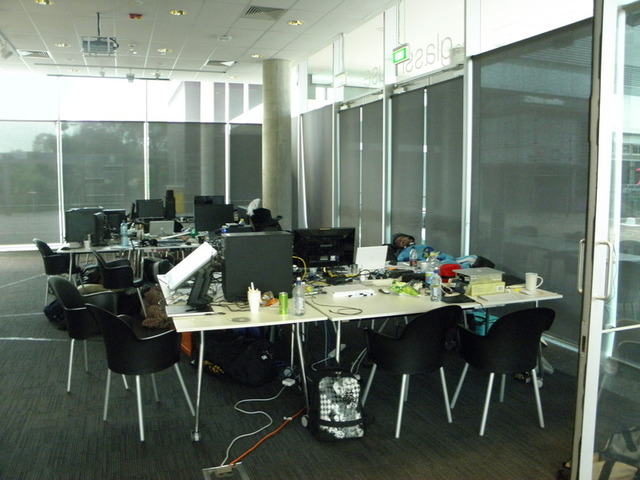 The pro room on Saturday morning.