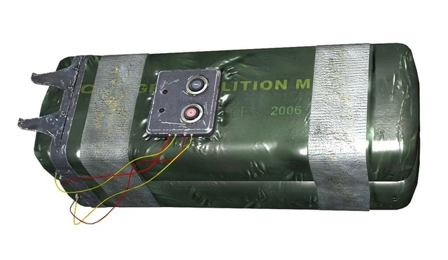 C4 charges can be used to blow holes in architectural obstacles, to eliminate groups of smaller enemies or to attack larger individuals. The remote control unit is used to detonate one or more charges simultaneously from a safe distance. Using the hooks, skilled throwers can attach a charge to an enemy without approaching too closely.