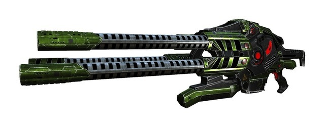The XL2 is still in experimental phase, but has so far proven to be a very reliable weapon for various purposes. The four barrels fire in succession, allowing the weapon to deliver energy pulses with an extremely high rate of fire for a long period of time without overheating. Made entirely of titanium, it is both very light and immune to usual overheating problems, making it an excellent energy weapon.