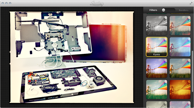 Some of Analog's filters include optional random variations.