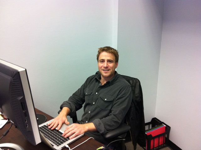 Stewart Butterfield in his office at Tiny Speck