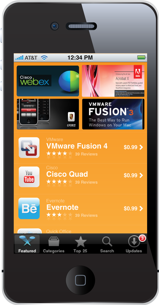 Private app store vendor Partnerpedia's storefront for iPhone