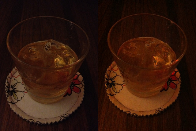 Left: iPhone 4S, 1/15 f/2.4 ISO800. Right: iPhone4, 1/15 f/2.8 ISO1000.