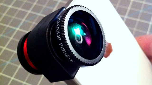 Photo accessories made for the iPhone 4, like this olloclip fish-eye lens, fits perfectly on the iPhone 4S.