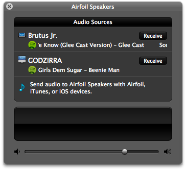 Airfoil Speakers allows you to see which computers are streaming what, and then choose which one you want to listen to
