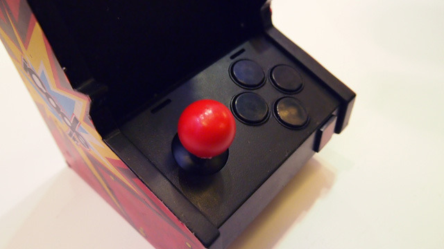 If sliding and tapping your iPhone's screen just isn't cutting it for marathon Galaga sessions, the iCade Jr's joystick and arcade-style buttons should help.