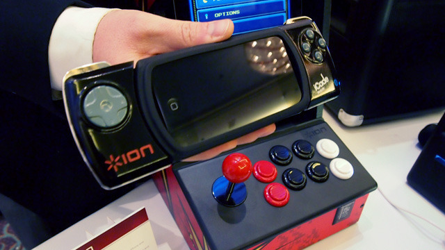 Ion's new iCade Mobile adds traditional d-pad controls to an iPhone or iPod touch.