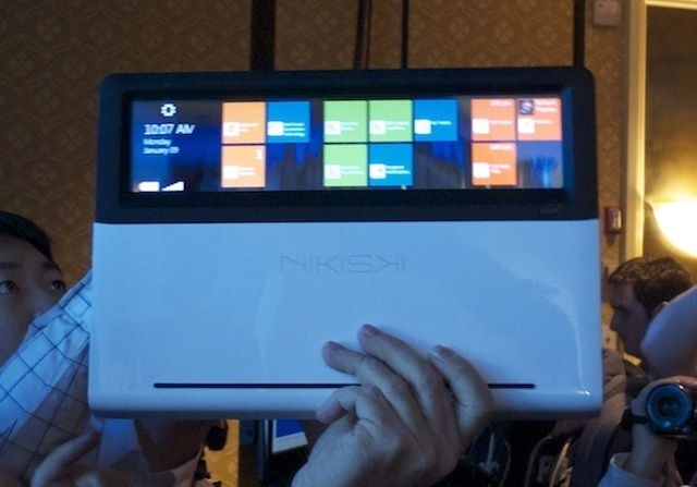 The Nikishki, an ultrabook you can interact with from the underside through its clear touchpad when closed.