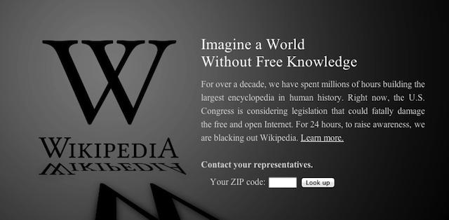 Wikipedia's anti-SOPA/PIPA page