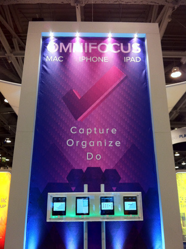 Companies like Omni, longtime Mac OS X platform supporters, continue to have a large presence at the show.