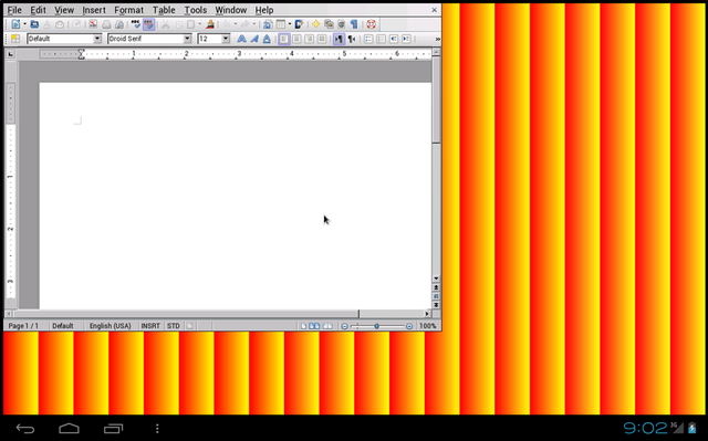 A screenshot of the LibreOffice Android prototype