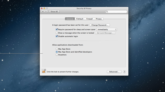 """Gatekeeper will let users set their Mac to install any app, apps from """"trusted"""" sources, or Mac App Store only."""