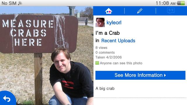 I'm a crab, and now I can prove it to people on my Vita!