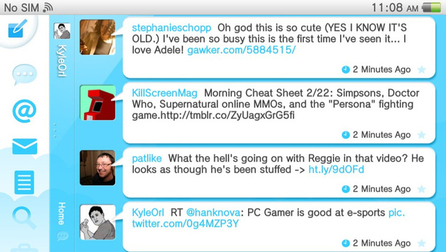 The Vita Twitter app is quite easy to use, as long as you don't use it to click through to a lot of links...