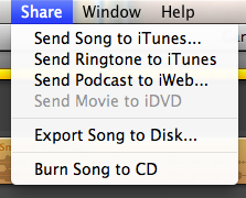 Once you save and then send to iTunes, you're almost there.