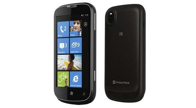 The ZTE Orbit, another budget handset with 256MB RAM that will benefit from the updated Windows Phone OS.