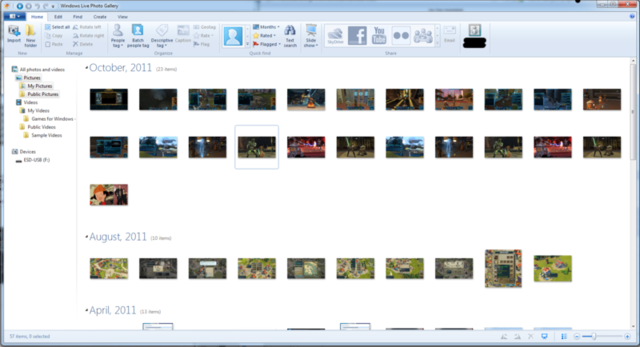 Windows Live Essentials Photo Gallery has a mess of options for what you can do with photos.