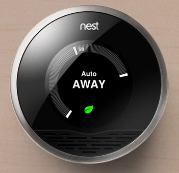 The Nest will automatically sense you're out of the house and turn down the temperature