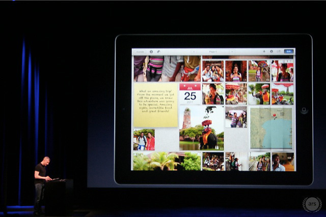 iPhoto for iOS offers a number of new sharing features, including the ability to publish a Web-based 'photo journal' to iCloud.