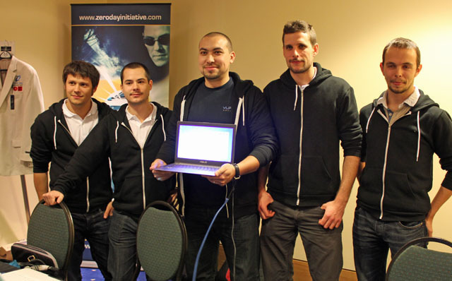 Members of Vupen Security's team at the Pwn2Own hacker contest