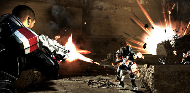 Spoiler alert: The ending portion of <i>Mass Effect 3</i> involves a lot of shooting at stuff. You have been warned.